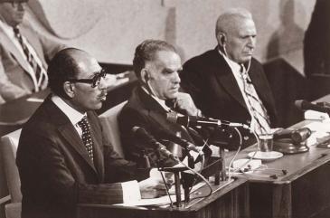 Am 20. November 1977: Rede Anwar al-Sadats vor dem israelischen Parlament, der Knesset; Fotot: Wikimedia Commons