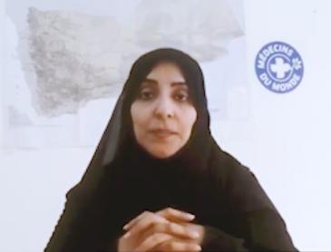 """Wafa'a Alsaidy, Koordinatorin der Jemen-Mission der Hilfsorganisation """"Ärzte der Welt""""; Foto: Skype/privat"""