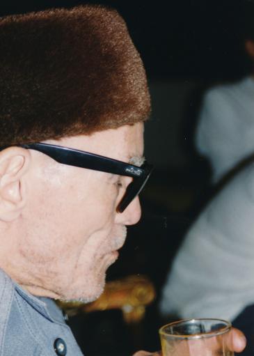 Sheikh Imam während eines privaten Treffens im Jahr 1994 in Kairo; Foto: Martina Sabra
