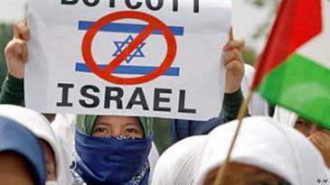Kundgebung in Jakarta gegen Israels Aktionen in Gaza. Foto ap