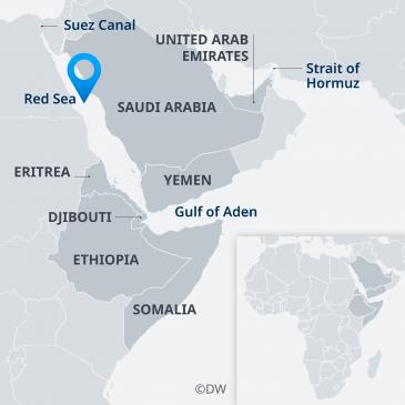 Karte zeigt Staaten am Horn von Afrika; Quelle: Deutsche Welle