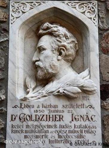 Denkmal des ungarischen Orientalisten Ignaz (Ignac) Goldziher, Gründer der modernen Islamwissenschaft; Foto: Wikipedia