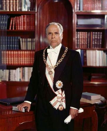 Porträtbild des ersten Präsidenten der Tunesischen Republik, Habib Bourguiba; Foto: Wikipedia