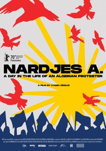 """Kinoplakat """"Nardjes A."""" von Karim Aïnouz"""