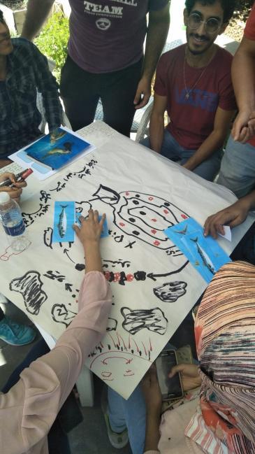 Workshop - Untersuchung von Meeresmüll; Foto: Banlastic Egypt