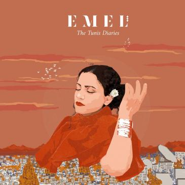 "Cover of Emel Mathlouthi's ""The Tunis Diaries"" (distributed by Partisan Records)"
