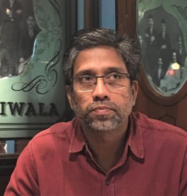 Muslimische Sprachwissenschaftler Hany Babu, angeklagt und inhaftiert (photo: Jenny Rowena)