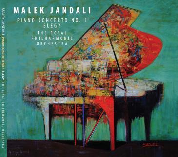 "Cover des Albums ""Piano Concerto No. 1 Elegy"" von Malek Jandali (erschienen bei Soul b Music)"