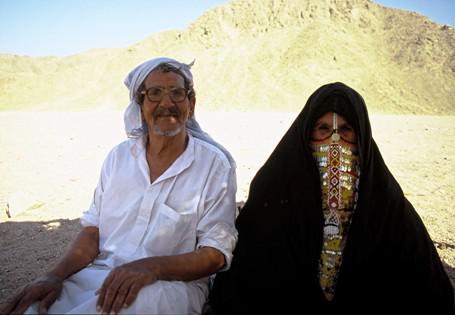 Älteres Beduinen-Ehepaar