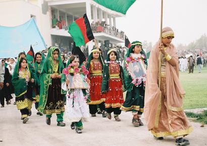 Zeremonie junger Afghanen