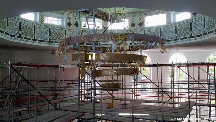 Al-Muhajirin-Moschee in Bonn kurz vor der Fertigstellung
