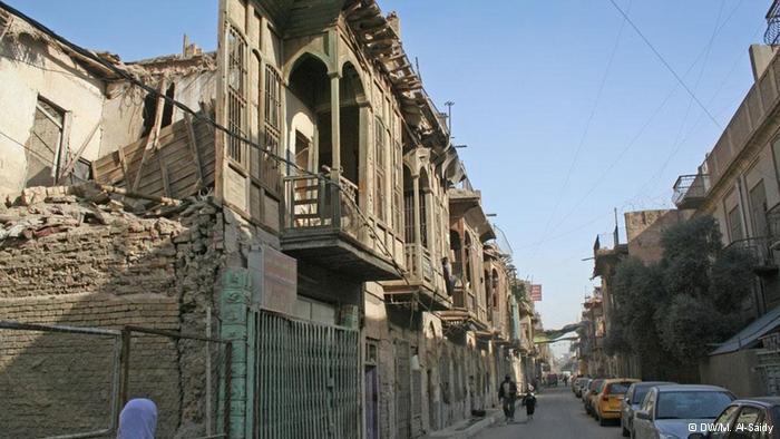 Alte Häuser im jüdischen Viertel Bagdads