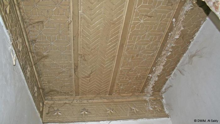 Deckenpaneel eines alten jüdischen Hauses