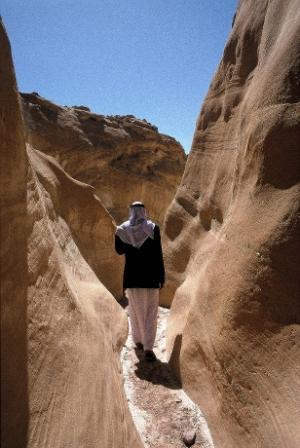 """Der sogenannte """"Yellow Canyon"""" am Sinai"""