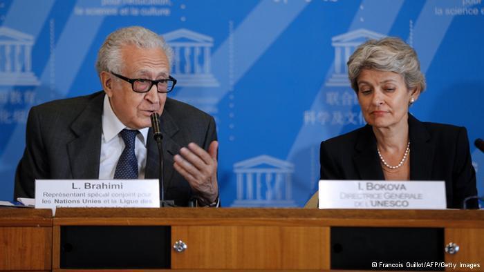 Lakhdar Brahimi und Irina Bokova