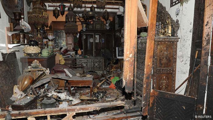 Zerstörung in der Altstadt von Damaskus