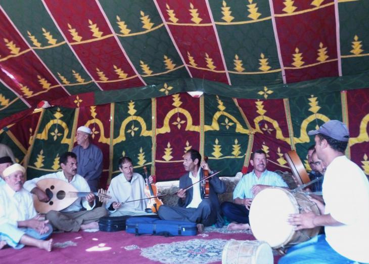 Die Master Musicans während eines Konzerts in Joujouka; Foto: Arian Fariborz