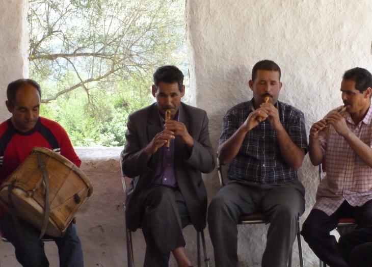 Die Master Musicans während einer Probe in Joujouka; Foto: Arian Fariborz