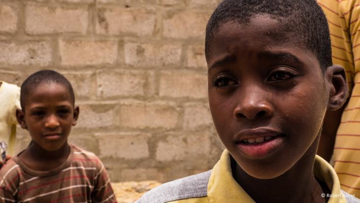 Portrait von Yarg, einem elfjährigen Jungen