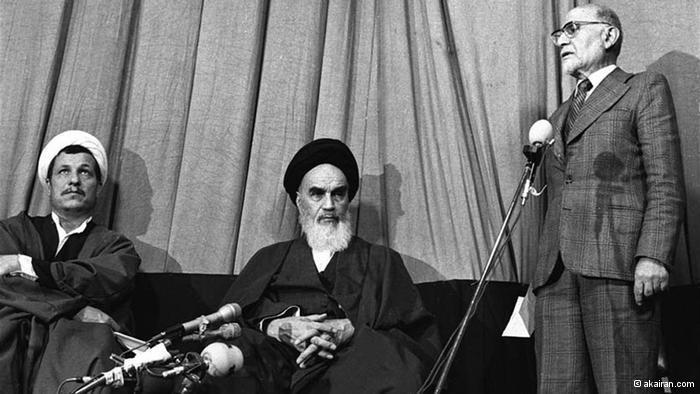 Ayatollah Khomeini und Mehdi Bazargan; Foto: © akairan.com