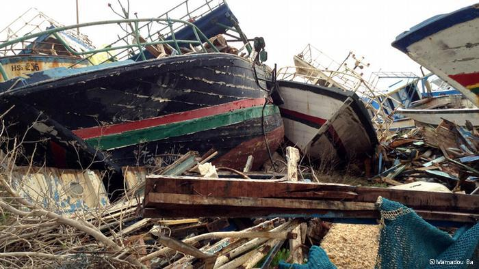 Schiffsfriedhof von Lampedusa; Foto: © Mamadou Ba