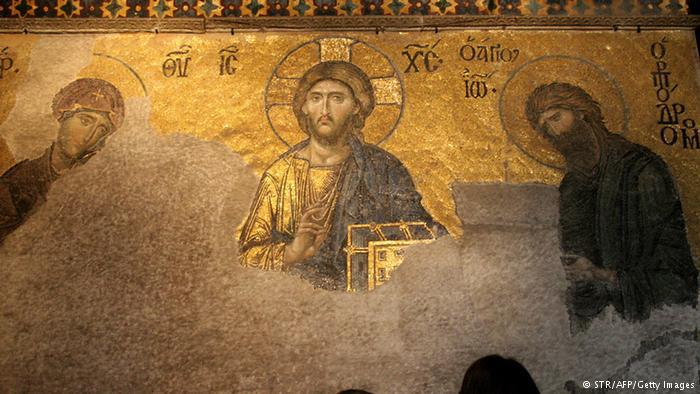 Jesusmosaik in der Hagia Sophia; Foto: STR/AFP/Getty Images