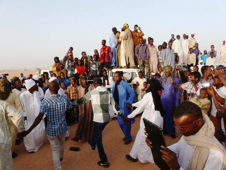 Einwohner Murzuqs begehen das nationale Tebu-Volksfest; Foto: Valerie Stocker