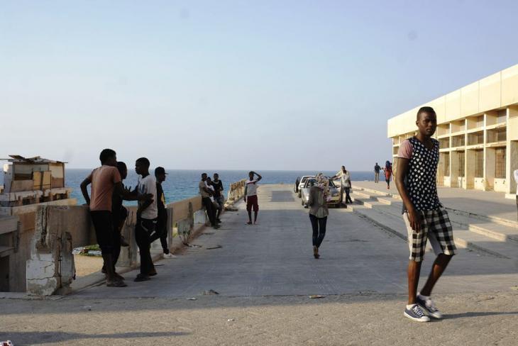Ein Flüchtlingscamp nahe Tripolis; Foto: Valerie Stocker
