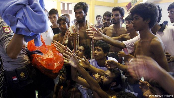 Lokale Spenden. Foto: Reuters: R. Bintang
