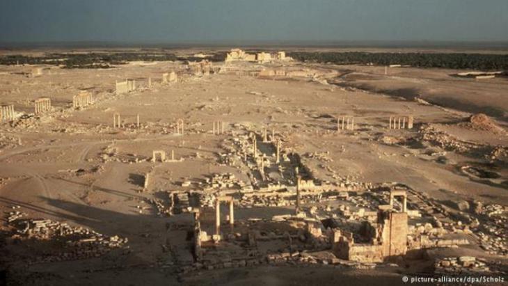 Blick auf das Weltkulturerbe Palmyra; Foto: picture-alliance/ dpa/ Scholz
