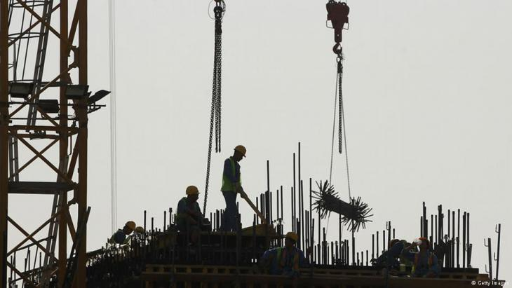 WM-Baustelle in Doha. Foto: Getty Images