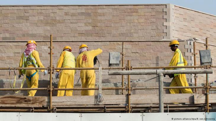 Baustelle in Qatar. Foto: picture-alliance/ dpa/ B. von Jutrczenka