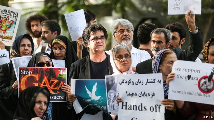 Jafar Panahi unter Demonstranten. Foto: ISNA