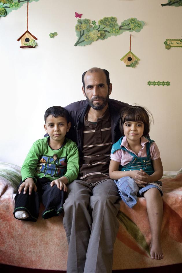 Aid, Muhammad und Yumna. Foto: Kai Wiedenhöfer