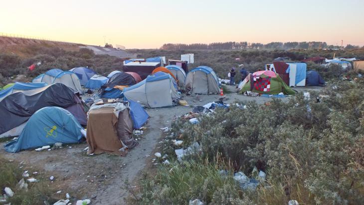 Flüchtlingslager Calais. Foto: DW/ H. Tiruneh