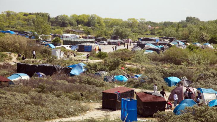 Flüchtlingslager Calais. Foto: DW/ L. Scholtyssek