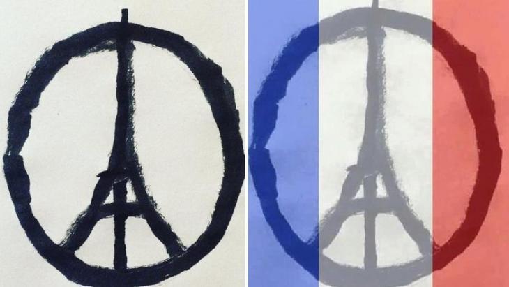 Logo #PeaceForParis; Quelle: Twitter/Facebook