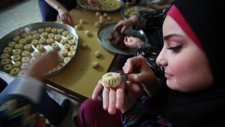 Dekoration traditioneller Kekse Eid ul-Fitr in Ramallah; Foto: Abbas Momani/AFP/Getty Images