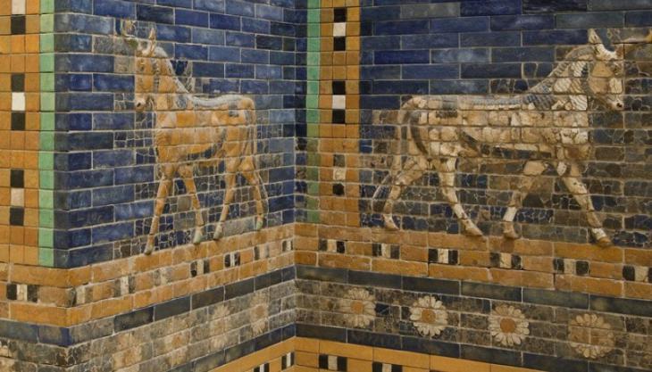 Babylonische Kunst im Pergamonmuseum; Foto: dpa