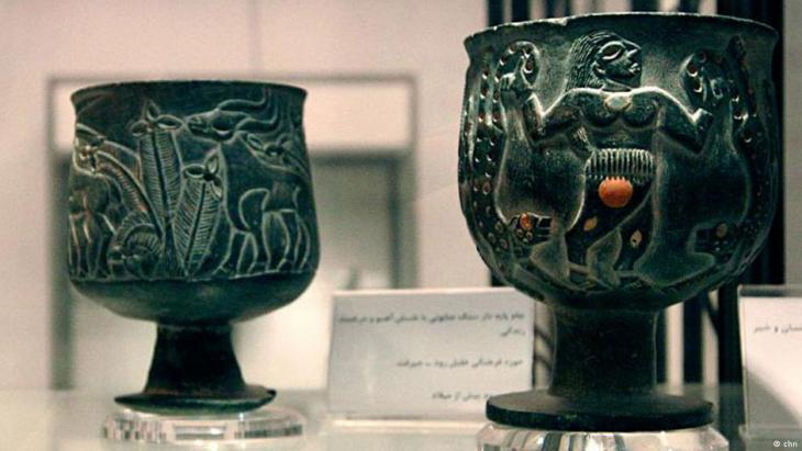 Fundstücke aus Jiroft; Foto: chn, Hossein Kermani
