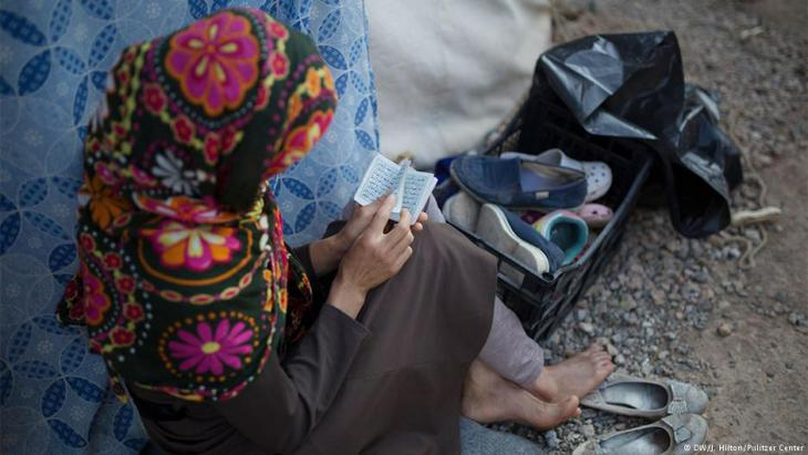 Farida aus Afghanistan im griechischen Flüchtlingslager in Ritsona bei Athen am 6.06.2016; Foto: DW/J. Hilton/Pulitzer-Center