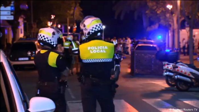 Vier Terroristen sind in Cambrils erschossen. Foto: Reuters/Reuters TV