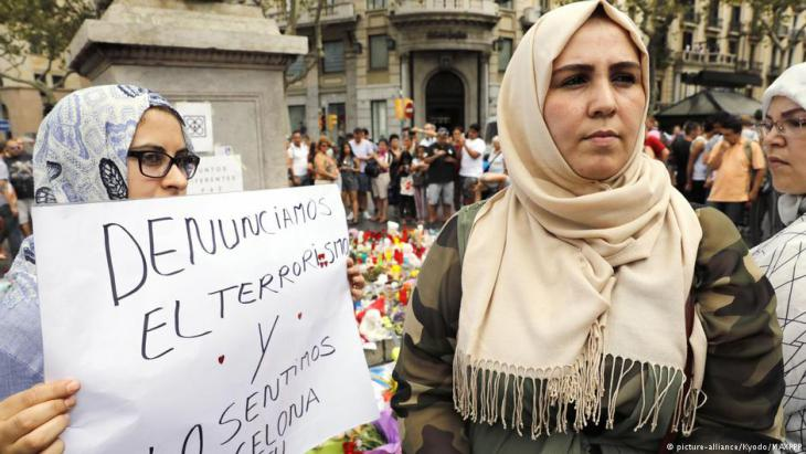 Muslimische Frauen verurteilen in Barcelona die Gewalt.