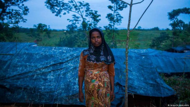Angehörige der Rohingya im Flüchtlingslager Cox's Bazar; Foto: Imago/A.Salahudin