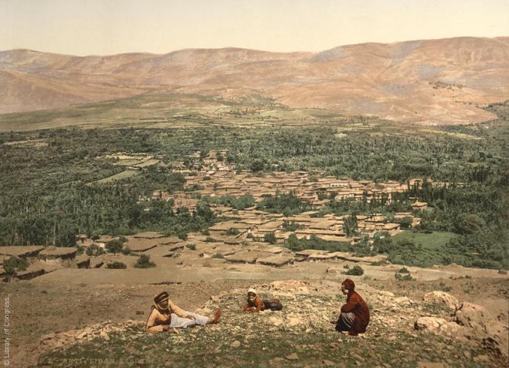Blick auf die Ortschaft Al-Zabadani, Syrien, 1890-1900; Foto: Raseef22