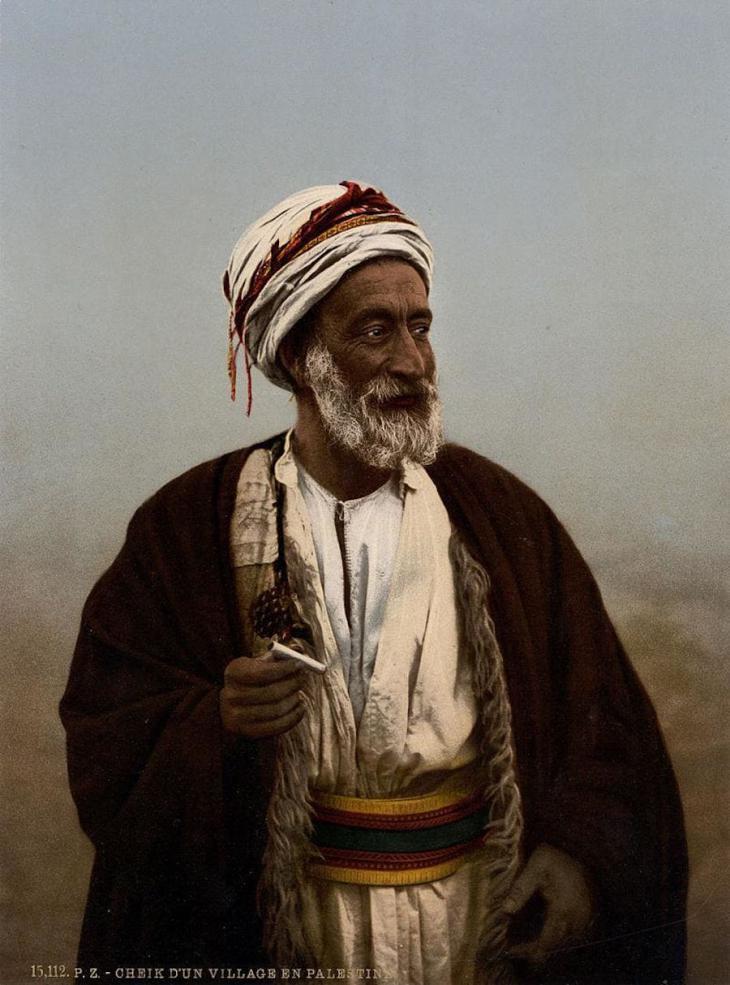 Ein palästinensischer Scheich; Foto: Raseef22