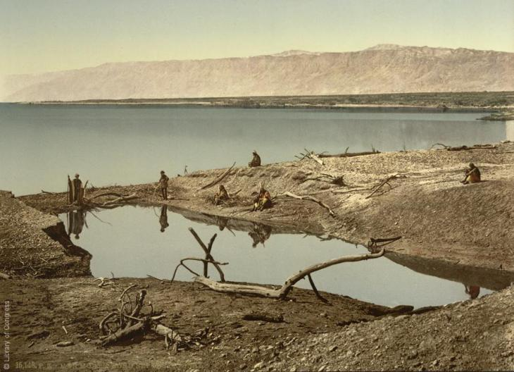 Das Tote Meer, Jordanien, 1890-1900; Foto: Raseef22