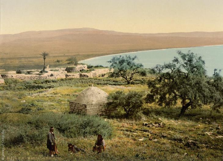 Der Geburtsort Maria Magdalenas, Magdala, 1890-1900; Foto: Raseef22