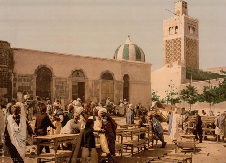 Elfenbeinmarkt in Tunis im Jahr 1899; Foto: Raseef22