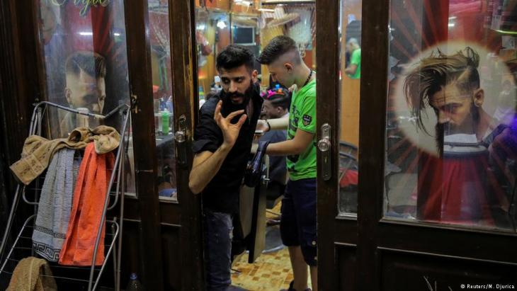 Friseurladen in Damaskus; Foto: Reuters
